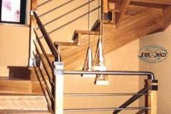 3- balustrada ze stali kwasoodpornej i drewna