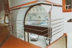 44B - balustrada stal-drewno (restauracja)