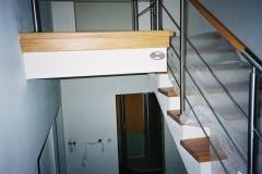 Bs-dr14b_r' - balustrada stalowa z pochwytem drewnianym