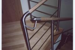 Bs-dr17e - balustrada stal-drewno