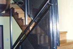 59B - balustrada stal - blacha perforowana