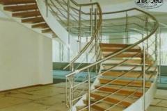 32-Bs14f - balustrada stalowa schodowa, krecona