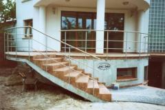 Bs17 - balustrada stalowa tarasowa i schodowa