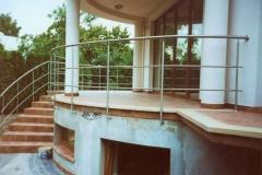 Bs17a - balustrada stalowa tarasowa i schodowa