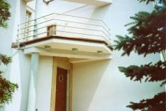Bs19 - balustrada balkonowa z rurki stalowej Inox