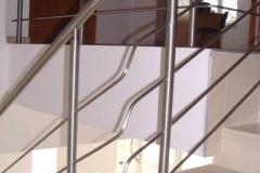 Bs21d - balustrada stalowa (rurka i pręt)