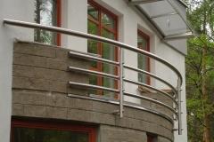 Bs32c'_r - balustrada z rury Inox