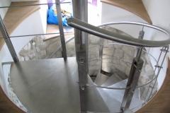 Bs39_415B_ balustrada stal Inox do schodow kreconych