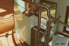 105B- balustrada stal - szklo