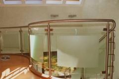 125B - balustrada stal - szklo