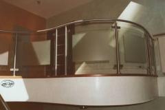 127B - balustrada stal - szklo