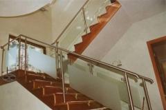 128B - balustrada stal - szklo
