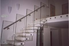 Bsz2b - balustrada szklana z porecza stalowa