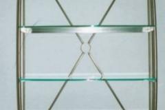16-27M - regal ze stali kwasoodpornej i szkla