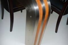 192M_Ms18b_stoł prostokatny nogi stal kwasoodporna i drewno blat szklany