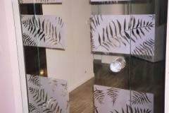 Wdw4wz - drzwi wewnętrzne ze szkła, piaskowany wzór